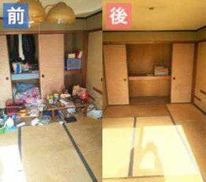 蟹江町で遺品整理‐before-after