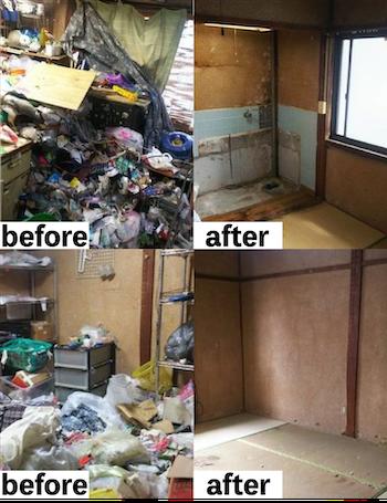 岐阜県での遺品整理の事例